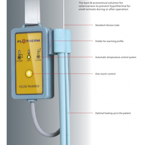 FloTherm Vet IV Fluid Warmer with Wrapped Warming Profile*1