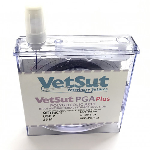 VetSut PGA PLUS (in anti-bacterial storage solution) Reel Metric 1.5 (USP 4/0) Violet*25M