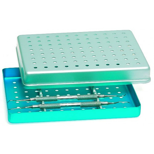 Aluminium Tray (Perforated) BLUE 28 x 18 x 1.9cm *1