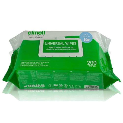 Clinell Universal Wipes - Log Kill 6 (99.999%)*200