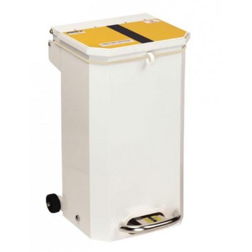 Bin 20 Ltr Yellow / Black lid 'Offensive/Hygiene Waste'