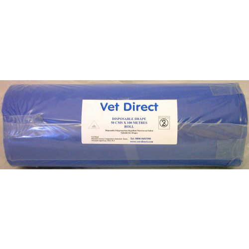 Vet Direct Drapes 50cm (Approx) x 100M Roll Blue *1