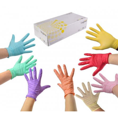 Pearl Nitrile Powder Free Gloves Green XL*100