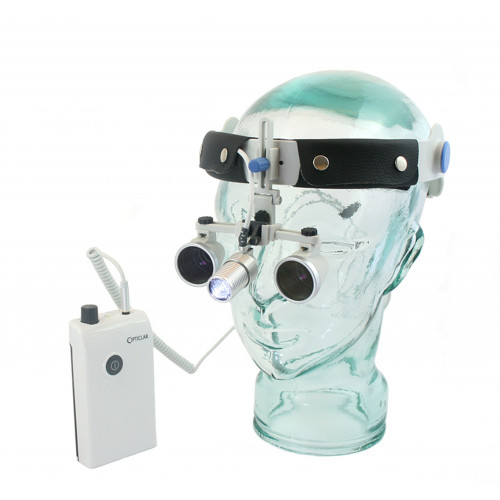 Opticlar Loupes & LED Light Pack (2.5x Magnification and 340mm working distance) Water Resistant, Lenses Guaranteed for 5 Years*1