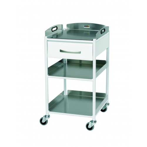 Dressing Trolley with 3 Stainless Steel Effect Trays - Small 860(H)x460(W)x520(D) *1
