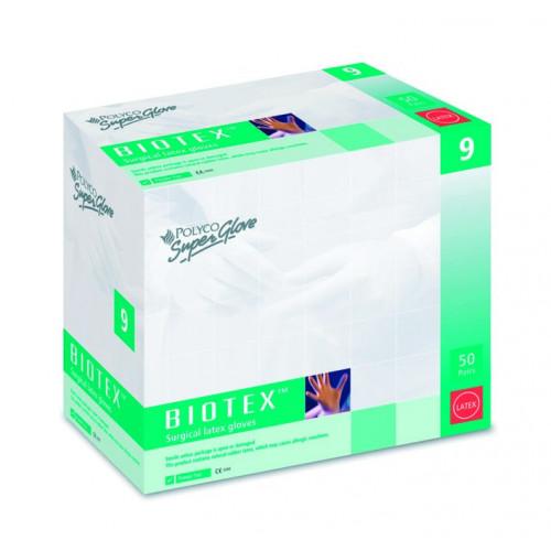 Latex Sterile Biotex  Gloves 8 Pwd Free *50