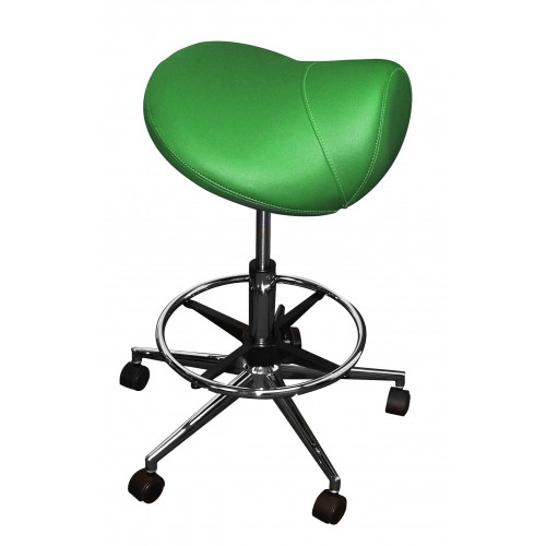 Pro-Seat Saddle Stool TEAL GREEN with Foot Ring (Height Adjustable 58-78cm) *1