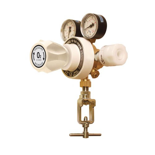 Regulator Oxygen Twin Gague Inlet: Pin-Index Outlet: Schrader QRC*1