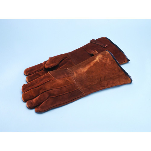 Long Protection Gauntlet  Red Leather Pair*1