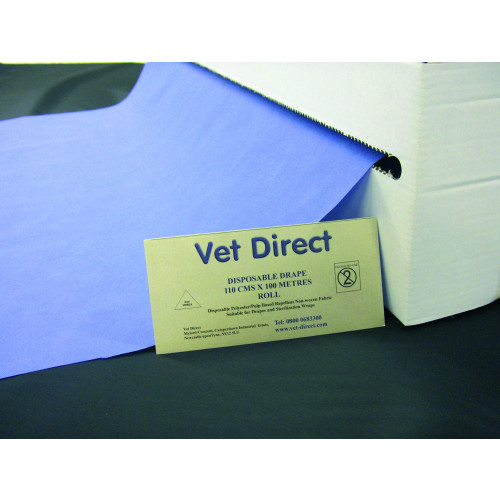 Vet Direct Drapes 110cm x 100M Roll Premium Blue *1