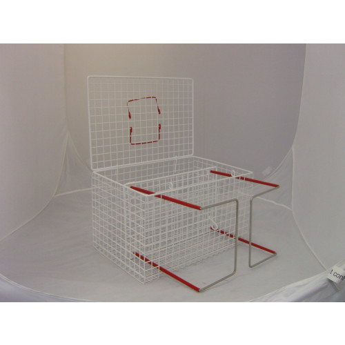 Cage with Crush & Bottom Sliding Floor 46x30x30cm *1