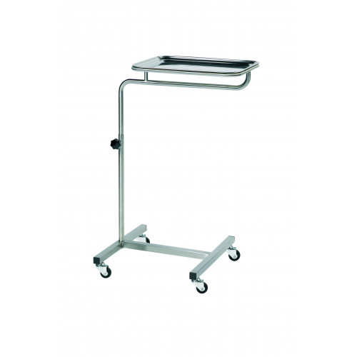 Mayo Table H: 74-112cm Top: 67x47cm on 4 Wheels*1