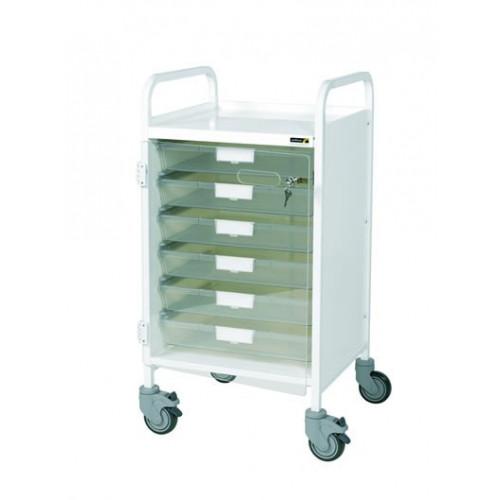 Vista 50 Trolley 6 Clear Trays*1
