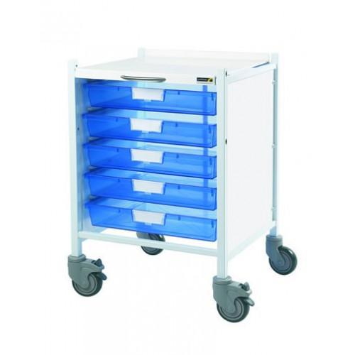 Vista 40 Trolley - Trays Blue - 5 Single Trays*1