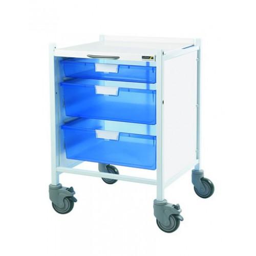 Vista 40 Trolley - Blue Trays - 1 Single Tray & Two Double Trays*1
