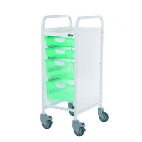 Vista 30 Trolley - Green Trays - 2 Single & 2 Double Depth Trays*1