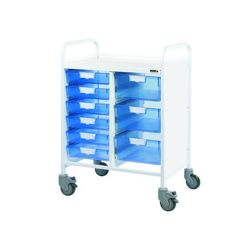 Vista 60 Trolley - Six Blue Trays & Three Double Depth Trays *1
