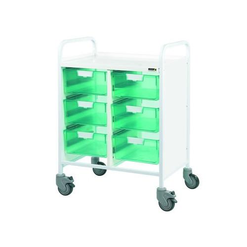 Vista 60 Trolley - Six Green Double Depth Trays  *1