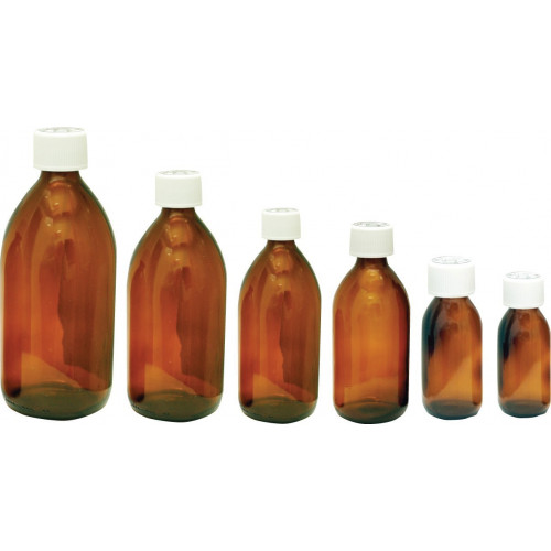 Capped Glass Medicine Bottle 60ml *36