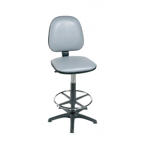 HIGH LEVEL GAS-LIFT CHAIR WITH FOOT RING (SPECIFY COLOUR)