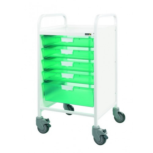 Vista 50 Trolley - Green Trays 4 Single Trays & 1 Double Depth *1
