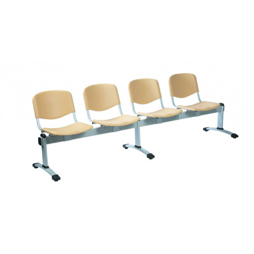 Visitor 4 Seat Module with 4 Visitor Padded Anti-Bacteria Vinyl Seats Colour: GREEN