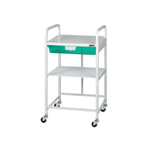 Vista 10 Trolley - VISTA 10 Economy Trolley, I Green Tray & 1 Shelf