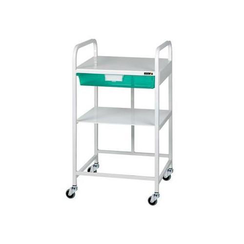 Vista 10 Trolley - VISTA 10 Economy Trolley, I Green Tray & 1 Shelf