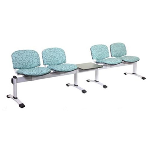 Visitor 5 Seat Module with 4 Visitor Moulded Plastic Seats + 1 Magazine Table Colour: GREY