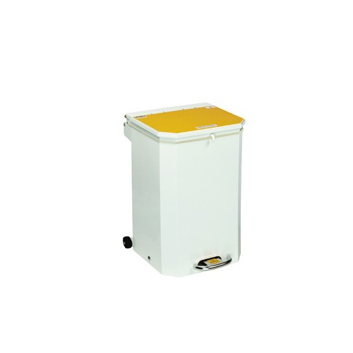Bin 50 Ltr Yellow Lid 'Waste 'Incineration'