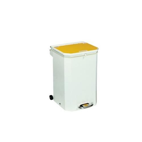 Bin 50 Ltr Yellow Lid 'Waste 'Incineration'