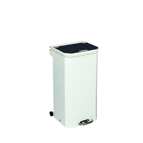 Bin 70 Ltr Yellow Lid 'Waste for Incineration'
