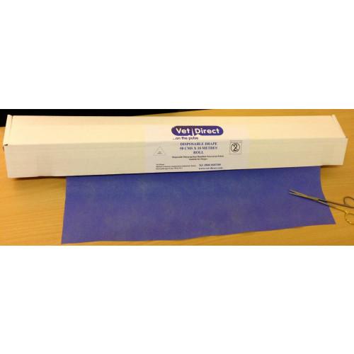 Vet Direct Drapes 50cm (Approx) x 10M Roll Blue *1
