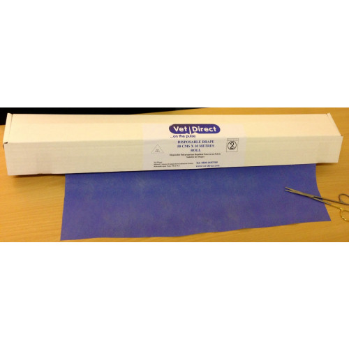 Vet Direct Drapes 50cm (Approx) x 10M Roll Blue *1