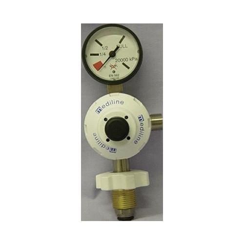 Regulator Oxygen Inlet: (F) 5/8 Bullnose Outlet: 3/8 Cone *1