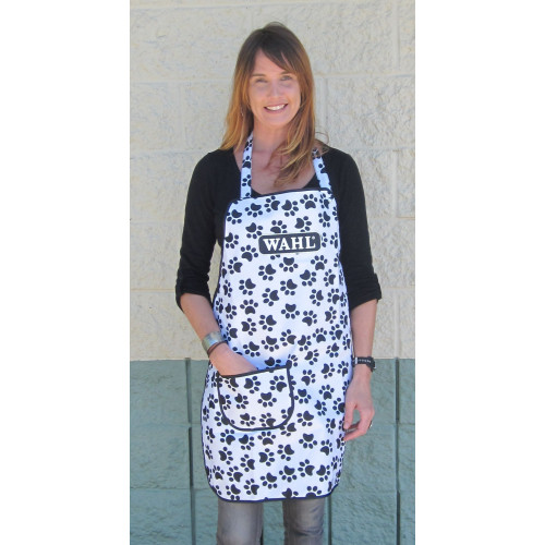 Paw Print Grooming Apron - Repels Hair and Water (Adjustable Neck and Waist )*1