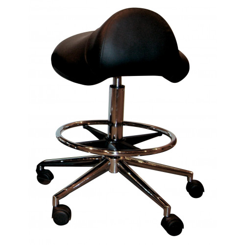 Pro-Seat Saddle Stool BLACK (MSO4H) with Foot Ring (Height Adjustable 58-78cm) *1