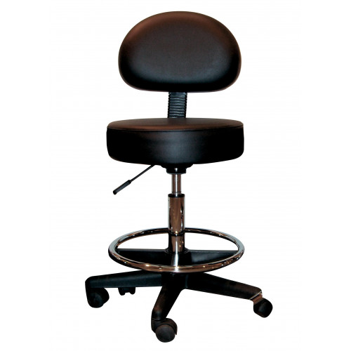 Pro-Seat Chair with Foot Ring (MS01H)  (Height Adjustable 58-78cm) Black*1