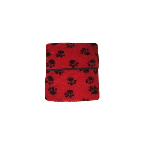 Microwave Hot Water Bottle (Fleece Red with Paw Prints) *1