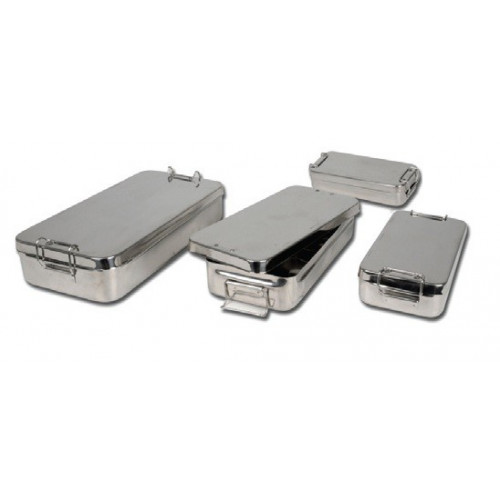 Stainless Steel Box with Handle 25x12.5x6 cm*1