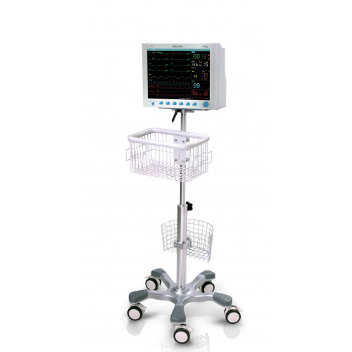 EDAN Mobile Trolley Stand with Basket for iM60, iM70 Multi-Paremeter Monitors*1