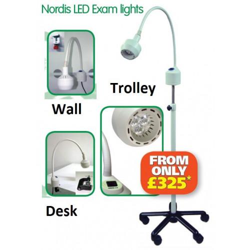 Nordis Vet LED Exam Light -Trolley Mount 5-Star Base (61,000Lux @50cm)*1