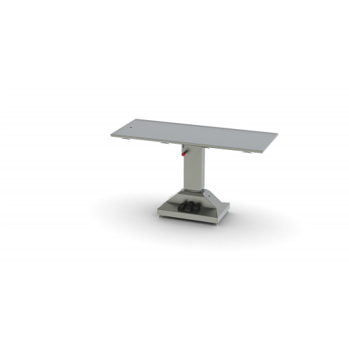 Flat Top Operating Table Mobile Electric Lift w/ battery, Tilt, Recessed Top 150x60x84-114cm*1