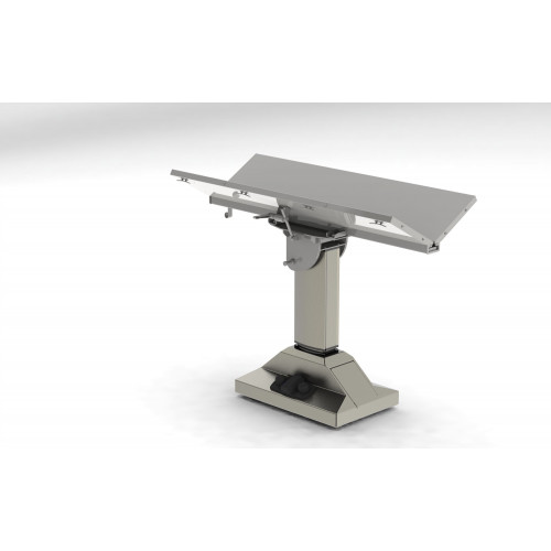 V Top Table Mobile with Tilt Electric  w/ rechargable battery and tie down cleats 130x62x95-125cm*1