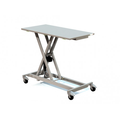 Mobile Table Stainless Table - ultra smooth electric movement w/ rechargable battery 120x64x 22-99cm*1
