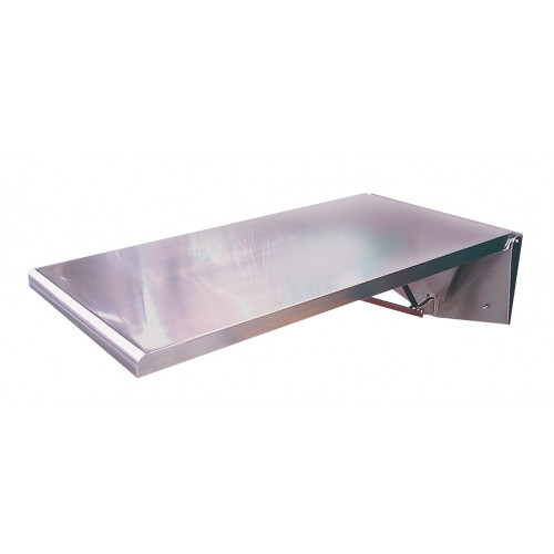 Fold Down Table - Stainless steel construction wall mounted includes mat and clips 91.5cm x 56cm*1