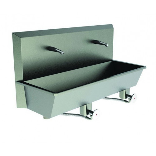 Scrub Sink 2 Station Sinks (Knee Push) Superior quality. Hands Free Operation*1