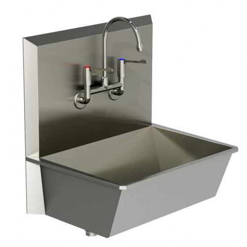 Scrub Sink 1 Stations LEVER ARMS - Superior Quality 75x55x75cm*1