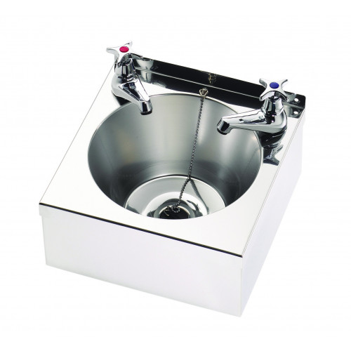 Hand Wash Basin 29.5x29x13.5cm (Taps Bought Seperately WASHPED10)*1