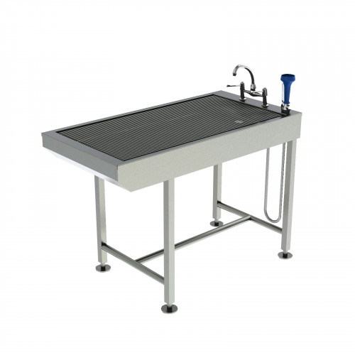 Slimline Tub Table - All stainless steel - designed for dentistry with Knee space 130x65x91.5cm*1